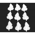 WOODEN - Fougère bois D7 cm Blanc par 30