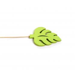 WOODEN - Palme Tige Bois D7 cm Vert par 10