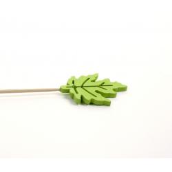 WOODEN - Erable Tige Bois d7 cm Vert par 10