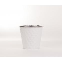 ANIA - Cache pot Zinc Blanc D13 x H12 cm