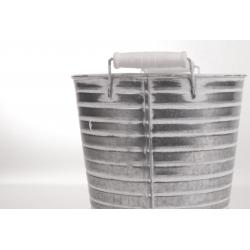 STRIPE - Cache-pot Zinc D13 x 12,5 cm