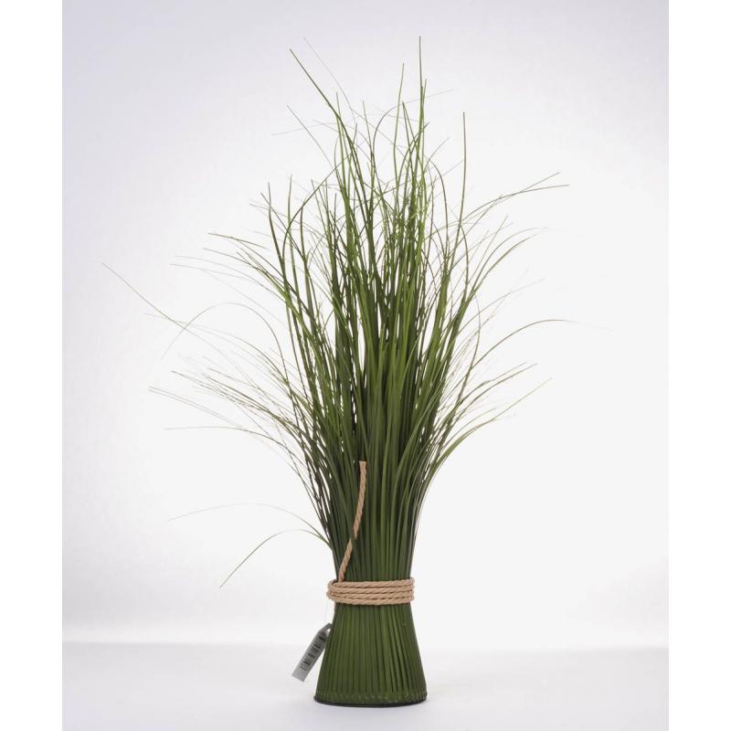 GRASS - Herbe oignon et pot en corde H45 cm vert