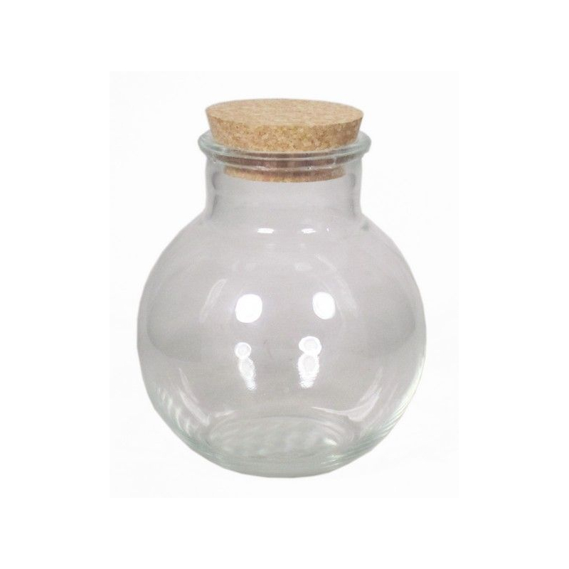 TERRA - Vase Boule Terrarium avec Bouchon D15 x H17 cm