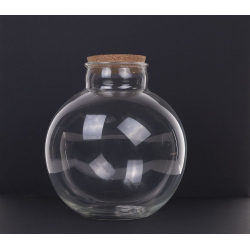 TERRA - Vase BouleTerrarium avec Bouchon D31 x H30 cm