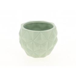 TRIA - Cache Pot Gris L13,7 x H10,5 cm