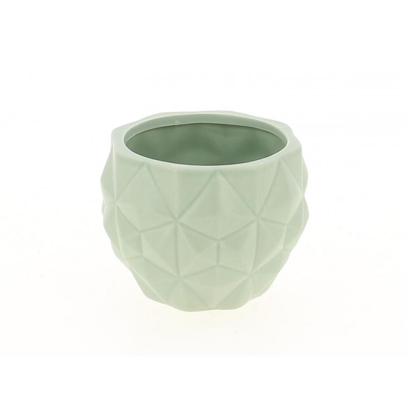 TRIA - Cache Pot Gris L13,7 x H13,7 cm