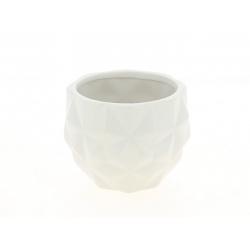 TRIA - Cache pot Blanc L13,7 x H10,5 cm
