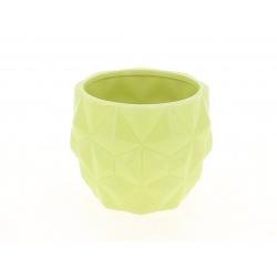TRIA - Cache Pot Vert L13,7 x H10,5 cm