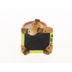 SCHOOL - Pot verre Girafe D7,5 x H7,5 cm