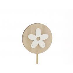 ATO - Pique Fleur Blanc D7 x H32 cm Par 12
