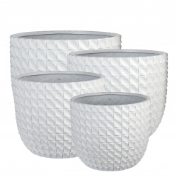 "Pot Rond ""Olof"" D44 x H37 cm Blanc"