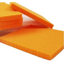 feuille de Mousse 10x10x1cm Mandarine par 10