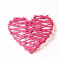 "Coeur""Velours""Rose 35cm"