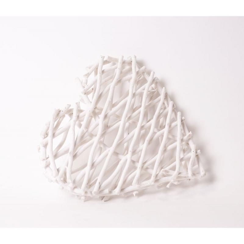 "Coeur""Velours""Blanc 42cm"