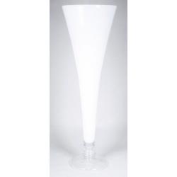 FLUTE - Vase Verre Flute Blanc D28 x H85 cm