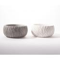 ADRA - Vase Ciment Ass.Gris et blanc L15 x P15 x H7.5 cm