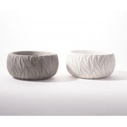 ADRA - Vasque Ciment Ass.Gris et blanc L15 x P15 x H7.5 cm
