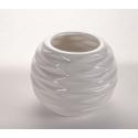 LITO - Vase rond Céramique Blanc L9.5 x P9.5 x H7.5 cm