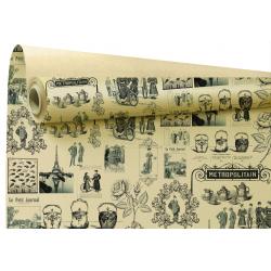 METRO - Papier Kraft Ecru Metropolitan 80cm x 40 m