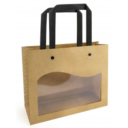 DELICATESSEN - Sac Kraft/Transparent L20 x P7.5 x H15 cm Par 10