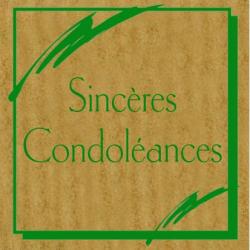 CONDO - Etiquettes Voeux Tendresse par 500 Sincères Condoléances