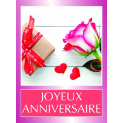 ANNIV - Etiquettes Voeux Tendresse par 500 Joyeux Anniversaire