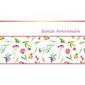 ANNIV - Carte Voeux Doubles Tendresse par 10 Joyeux anniversaire
