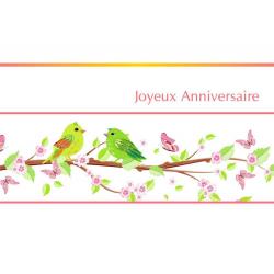 Carte Voeux Doubles Tendresse par 10 Joyeux anniversaire