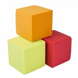 Demi Cube  Rouge 10x10x5 cm par 2