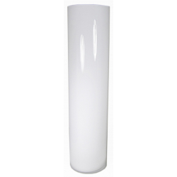 Vase Cylindre D19.5h80cm Blanc