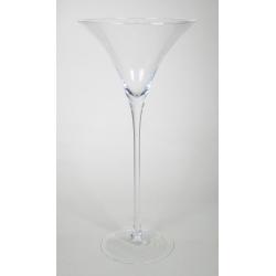 MARTINI - Vase Verre Martini D23 H50cm