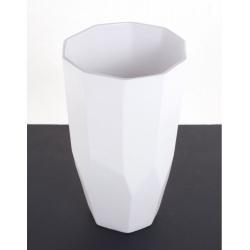 Vase Diama Blanc d 19x h 32 cm