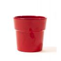 Cache-pot Rouge avec Rebord d13.5 h12.5 cm par 6