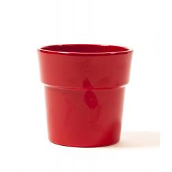 ORCH - Cache-pot Rouge avec Rebord d13.5 h12.5 cm par 6