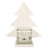 KOP - Pot Verre et Support sapin Bois Blanc L26 x P12 x H29 cm