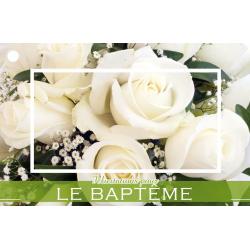 DIV - Carte Jeso Brillant 9 par 10 Félicitations pour le Bapteme