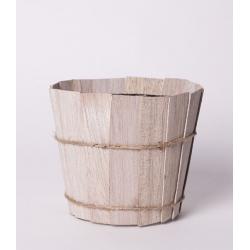 TEALC - Pot Bande de Bois Blanchi D10 x H9 par 10