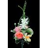 ENA - Bouquet 5 branches Rose, bouton de rose, orchidée H36 cm par 24