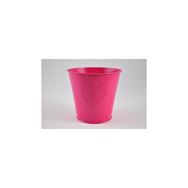 Cache Pot Coeur Fuchsia d13 cm par 12