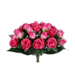 EVA - Bouquet 36 branches Rose, gypso Beauty/Rose H44 cm par 4