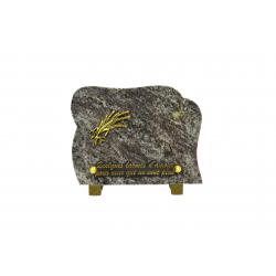 FUNERAIRE - Plaque galbée Granit H15 x L20 cm par 8