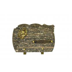FUNERAIRE - Plaque galbée H20 x L30 cm par 4
