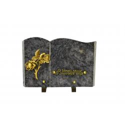 FUNERAIRE - Plaque forme livre Granit H20 x L30 cm par 4