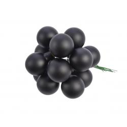 Boule Noël 20mm sur fil Noir par 144