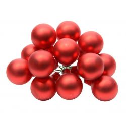 Boule Noël 20mm sur fil Rouge mat par 144