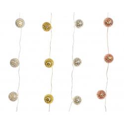 TINSEL - Guirlande boules LED L110 cm Par 4