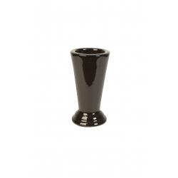 FUNERAIRE - Vase droit Blanc Porcelaine D15.5 x H28 cm