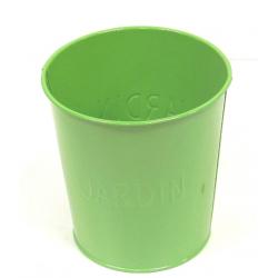 """Cache-pot zinc D11.5 """"Jardin"""" Vert"""