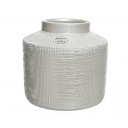 ALJA - Vase Terre cuite Blanc D20 x H18 cm