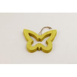 SONA - Papillon Bois Vert à Suspendre D20 x H19 cm
